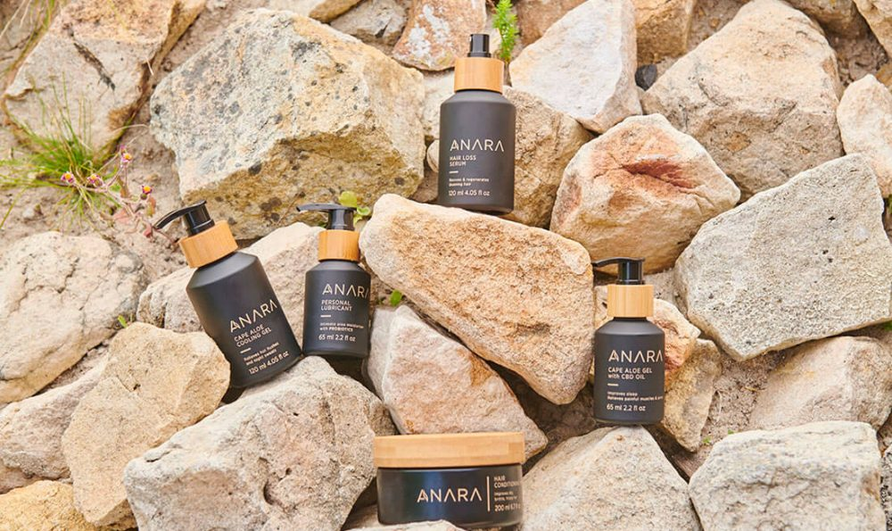 Anara products and packaging